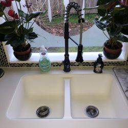 before kitchen renovation sink
